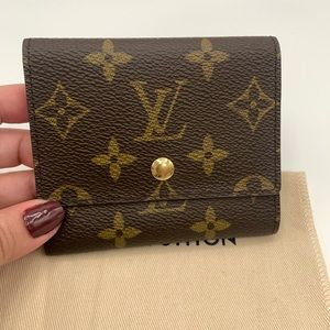 Authentic Louis Vuitton trifold card holder